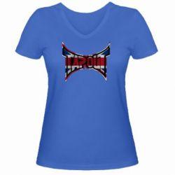 Женская футболка с V-образным вырезом Tapout England - FatLine