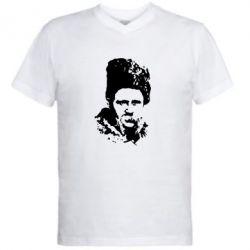 Мужская футболка  с V-образным вырезом Тарас Григорович Шевченко - FatLine