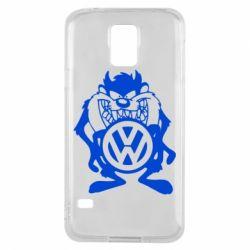Чехол для Samsung S5 Тасманский дьявол Volkswagen