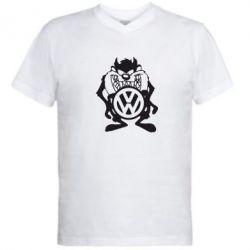 Мужская футболка  с V-образным вырезом Тасманский дьявол Volkswagen