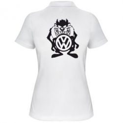 Женская футболка поло Тасманский дьявол Volkswagen - FatLine