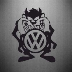 Наклейка Тасманский дьявол Volkswagen