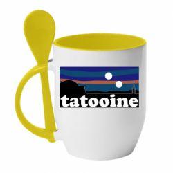 Кружка с керамической ложкой Tatooine