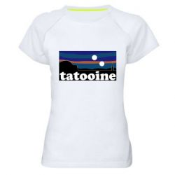 Женская спортивная футболка Tatooine