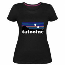 Женская стрейчевая футболка Tatooine