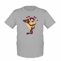 Детская футболка Taz in love - FatLine