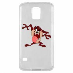 Чехол для Samsung S5 Таз Тасманский дьявол
