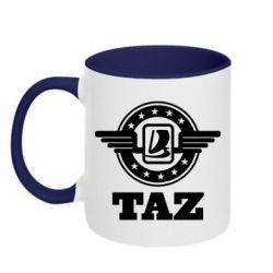 Кружка двухцветная Taz