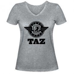 Женская футболка с V-образным вырезом Taz