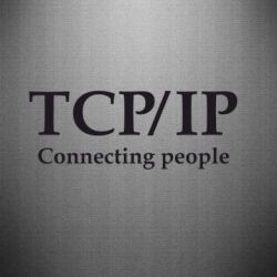 Наклейка TCP\IP connecting people - FatLine