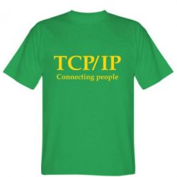 Мужская футболка TCP\IP connecting people - FatLine