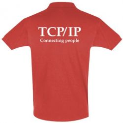 Футболка Поло TCP\IP connecting people - FatLine