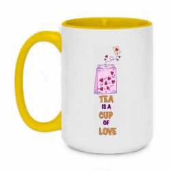 Кружка двухцветная 420ml Tea is a cup of Love