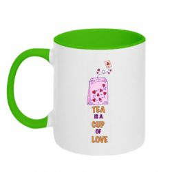 Кружка двухцветная 320ml Tea is a cup of Love