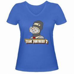 Женская футболка с V-образным вырезом Team Fortress 2 Art