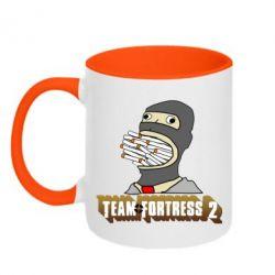 Кружка двухцветная 320ml Team Fortress 2 Art