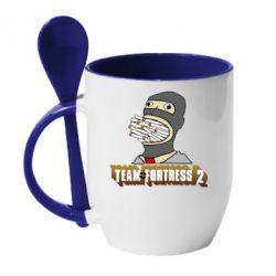 Кружка с керамической ложкой Team Fortress 2 Art
