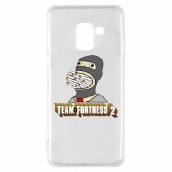 Чехол для Samsung A8 2018 Team Fortress 2 Art