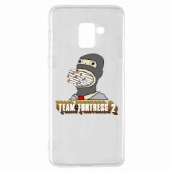 Чехол для Samsung A8+ 2018 Team Fortress 2 Art