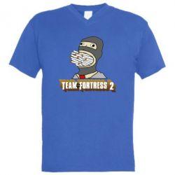 Мужская футболка  с V-образным вырезом Team Fortress 2 Art
