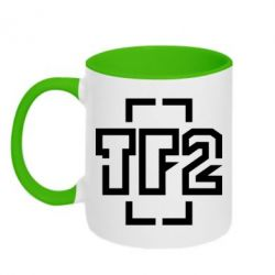 Кружка двухцветная 320ml Team Fortress 2 logo