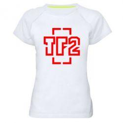 Женская спортивная футболка Team Fortress 2 logo