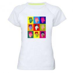 Жіноча спортивна футболка Team Fortress pop art