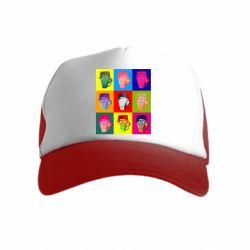 Дитяча кепка-тракер Team Fortress pop art