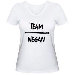 Женская футболка с V-образным вырезом Team negan 1