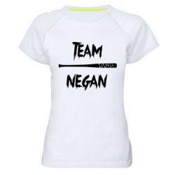 Женская спортивная футболка Team negan 1