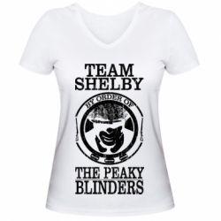 Жіноча футболка з V-подібним вирізом Team Shelby the Peaky Blinders