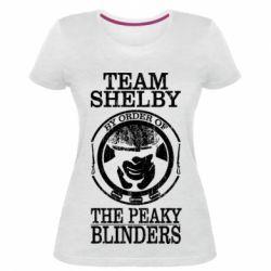 Жіноча стрейчева футболка Team Shelby the Peaky Blinders