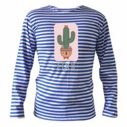 Тельняшка с длинным рукавом Cactus art