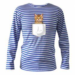 Тельняшка с длинным рукавом Cat in your pocket