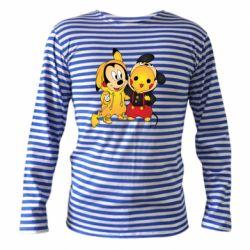 Тельняшка с длинным рукавом Mickey and Pikachu