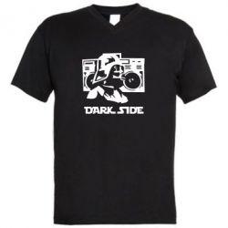 Мужская футболка  с V-образным вырезом Темная сторона Star Wars - FatLine