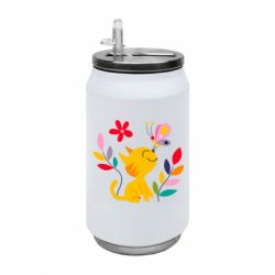 Термобанка 350ml Cat, Flowers and Butterfly