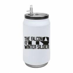 Термобанка 350ml Falcon and winter soldier logo