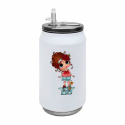 Термобанка 350ml Girl with big eyes