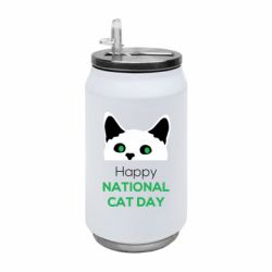 Термобанка 350ml Happy National Cat Day