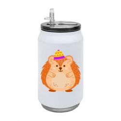 Термобанка 350ml Little hedgehog in a hat