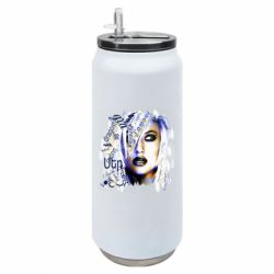 Термобанка 500ml Woman Portrait Calligraphy