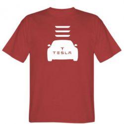 Мужская футболка Tesla Car - FatLine