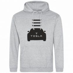 Мужская толстовка Tesla Car - FatLine