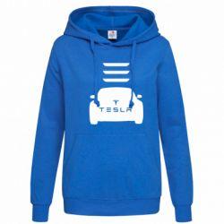 Женская толстовка Tesla Car