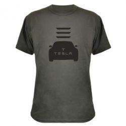 Камуфляжная футболка Tesla Car - FatLine