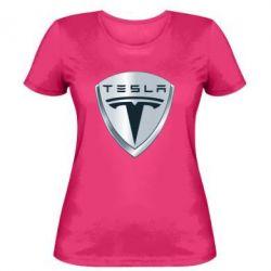 Женская футболка Tesla Corp - FatLine