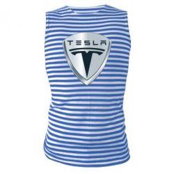 Майка-тельняшка Tesla Corp - FatLine