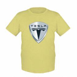 Детская футболка Tesla Corp - FatLine