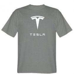 Мужская футболка Tesla Logo - FatLine